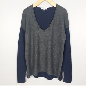 Madewell Color Block Wool Blend Sweater